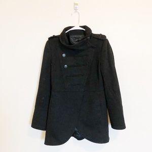 Zara Military Style Pea Coat Size Small